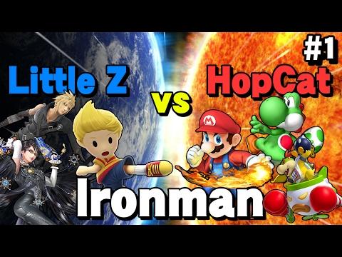Little Z vs HopCat - Smash Bros. Ironman (Part 1)