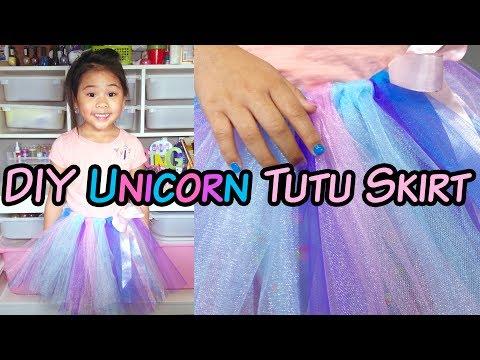 DIY No-Sew Tutu Skirt | DIY Unicorn Tutu Skirt | DIY Tulle Skirt Tutorial