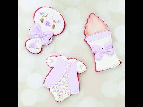 How To Decorate Vintage Hand Painted Baby Shower Cookies 👶🍼🐻