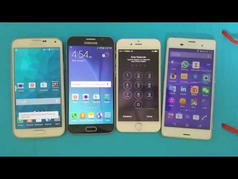 S5 vs S6 vs Iphone 6 vs Z3: Which Phone is the Fastest / Slowest?