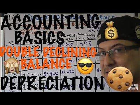 Accounting for Beginners #63 / Double Declining Balance Depreciation / With Residual Value