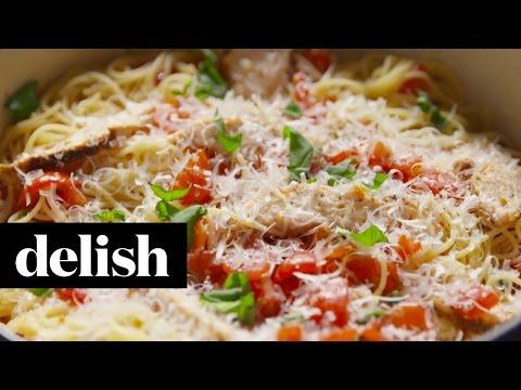 How To Make Bruschetta Chicken Pasta | Delish