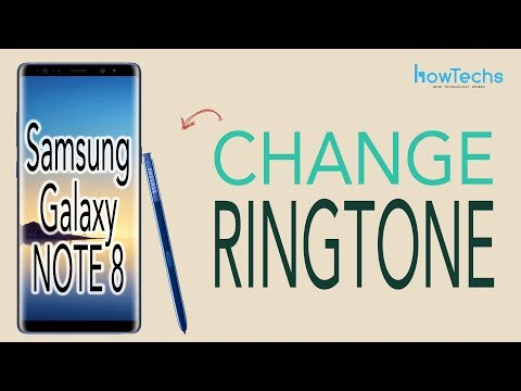 Samsung Galaxy Note 8 - How to Change Ringtone