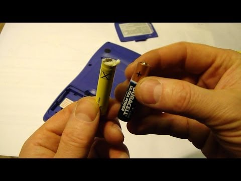 Why to use Duracell batteries vs other? And how to clean battery leak in Casio.
