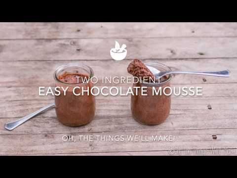 Two Ingredient Easy Chocolate Mousse