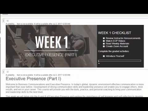 JWI 505: Business Communications Week 1 Overview