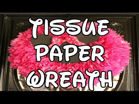 Minnie Mouse Tissue Paper Wreath
