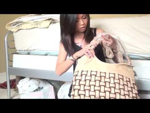 EcoCity J&B Weave Design Soft Hobo Shoulder Bag