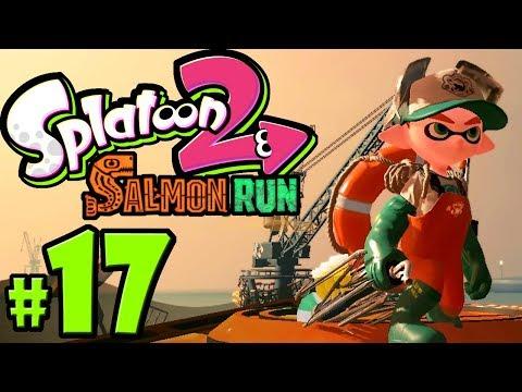 Splatoon 2 ~ Salmon Run - New Weapon: Grizzco Brella - Nintendo Switch Gameplay Walkthrough PART 17