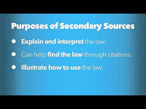 Defining Secondary Sources