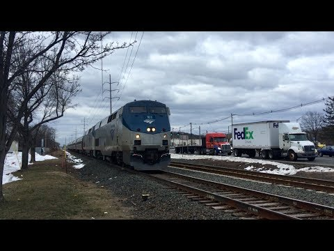 Evening Amtrak Trains in Wallingford, CT!!!