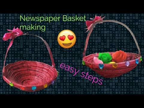 How to make Newspaper Basket...best out of waste... newspaper craft..