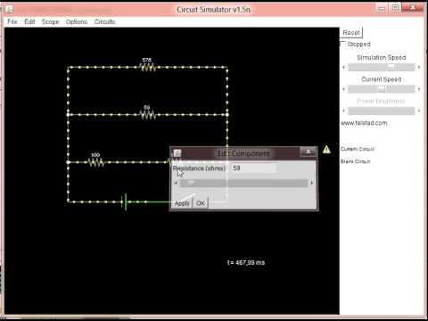 Circuit Simulation Java Applet