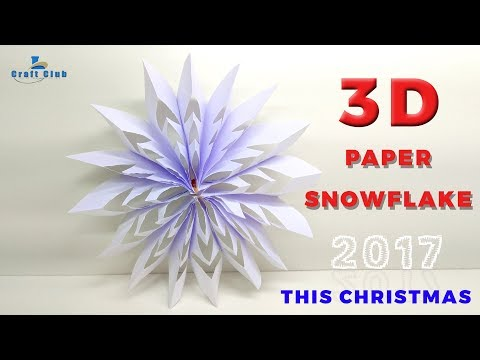 Paper Snowflake Tutorial | How To Fold Paper to Make a Snowflake | DIY Snowflake Christmas Ornament