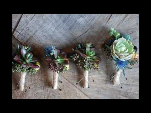 Rustic Boutonniere with Twine Wrap