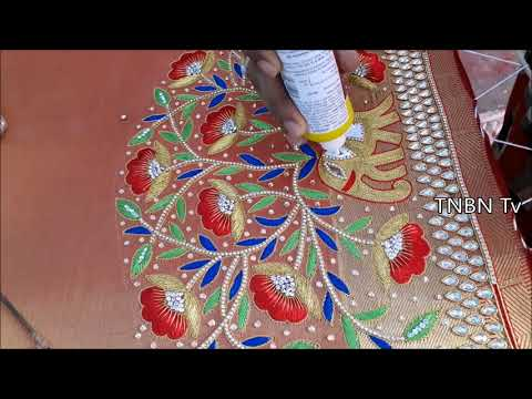 basic embroidery stitches | simple maggam work blouse designs | designer blouse designs