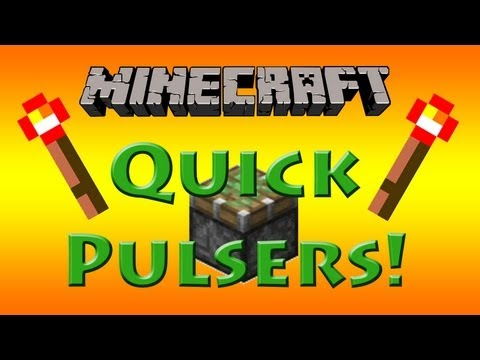How to Make Simple Compact Fast Redstone Pulsers In Minecraft 1.5.2! [Tutorial] Works in 1.6!