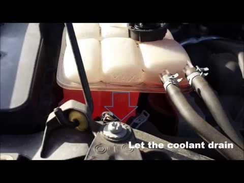 How to change the coolant antifreeze in a Ford Focus mk2