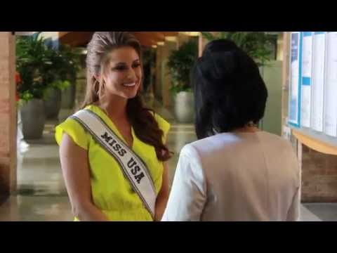 Nia Sanchez - Miss USA 2014 Visits Our Lady of the Lake - Part 1