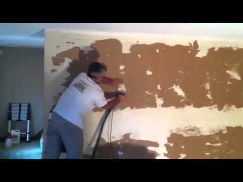Wall refinishing after wallpaper removal