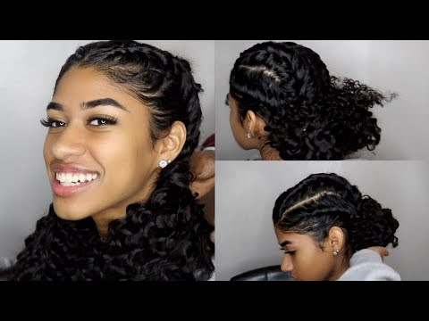EASY Braided Hairstyles for Curly Hair Virgo Hair Review ( Aliexpress)