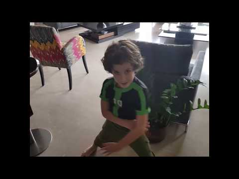 Theo hunting a treasure (Ben 10 costume)