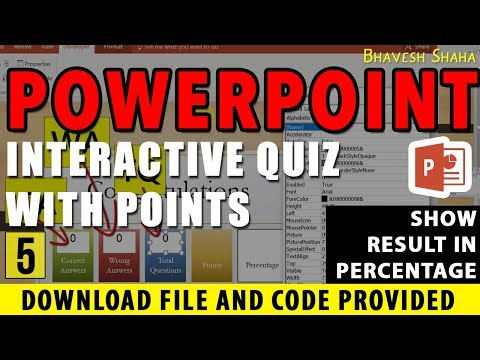 SHOW RESULT IN PERCENTAGE in QUIZ GAME with POINTS in PPT [TUTORIAL] VBA + Download pt.5