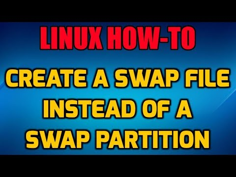 How to Create a Linux Swap File instead of a Swap Partition