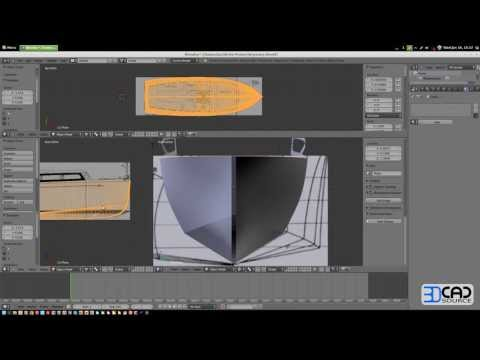 How to model a motor boat in Blender 2.6 part03