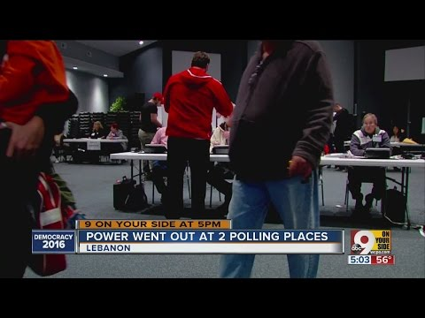 Power goes out at two Warren County polling places