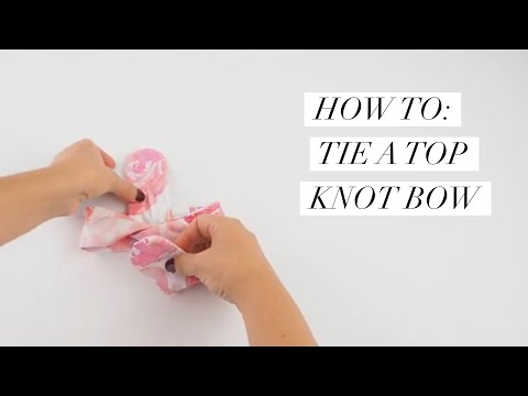 How to Tie a Top Knot Headband