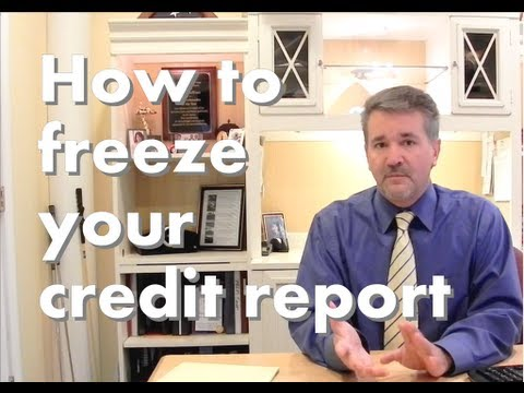 Credit Freeze How to freeze your credit report in less than one minute.