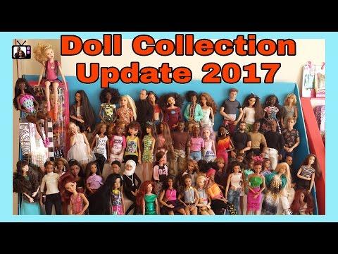 My Barbie Doll Collection 2017| Colección de muñecas| Coleção de bonecas| collezione di giocattoli