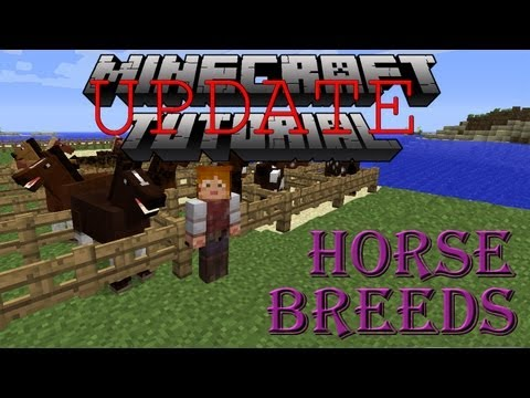 Minecraft Horse Breeds Tutorial - 1.6.2 UPDATE!