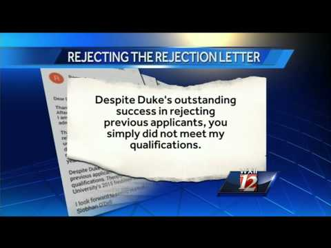 Stundent writes college rejection rejection letter