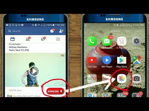 How To DOWNLOAD FACEBOOK VIDEOS in Your Phone Gallery 2017 new