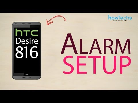 HTC Desire 816 dual sim - How to setup alarm
