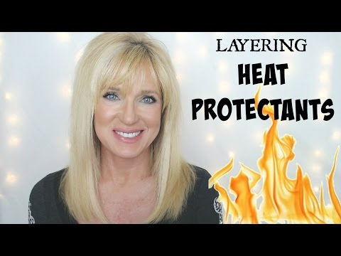 Layering Heat Protectants! Protect Hair From Damage!