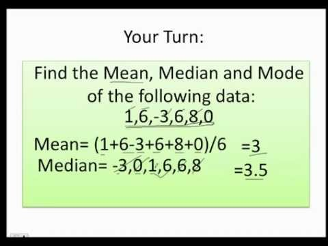 How to find the mean, median and the mode fast and easy