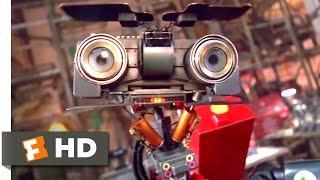 Short Circuit 2 (1988) - Manic Robot Scene (2/10) | Movieclips