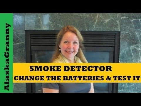 How to Change Batteries and Test Smoke Detectors and Carbon Monoxide Detectors
