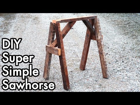 DIY Super Simple Sawhorse