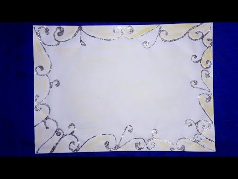 Page easy border design for projects drawing| paper border design for projects|simple border designs