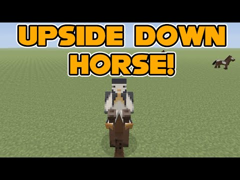 Minecraft Xbox: How To Ride a Horse Upside Down!
