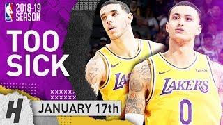 Kyle Kuzma & Lonzo Ball SICK Highlights Lakers vs Thunder 2019.01.17 - 32 Pts for Kuz!