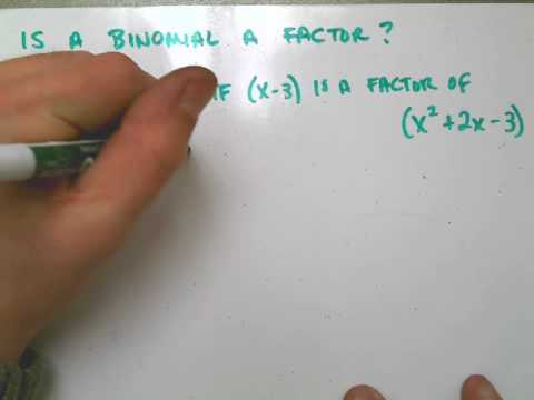 Is a Binomial a Factor of a Polynomial.avi