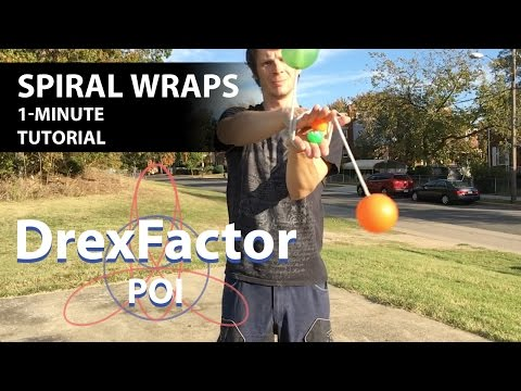 How to do Spiral Wraps for Poi: 1-minute tutorial