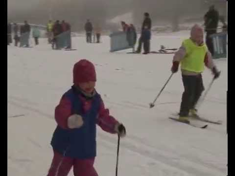 Kids Cross country skiing in Finland. Beginners and competitors.