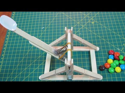 How to make a mini strong catapult – medieval homemade weapon