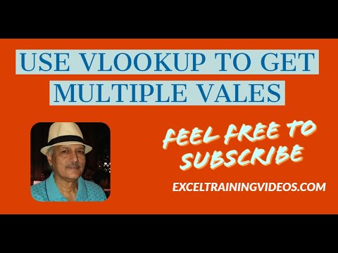 How to use VLookup to get multiple values
